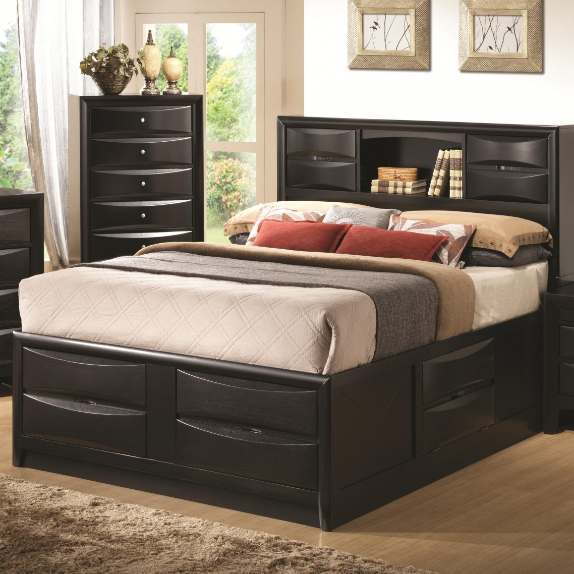 queen size bed frame with storage QXPCHLZ