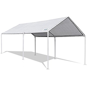 quictent 20u0027x10u0027 heavy duty carport car canopy party wedding tent with  waterproof, PVOIGGF