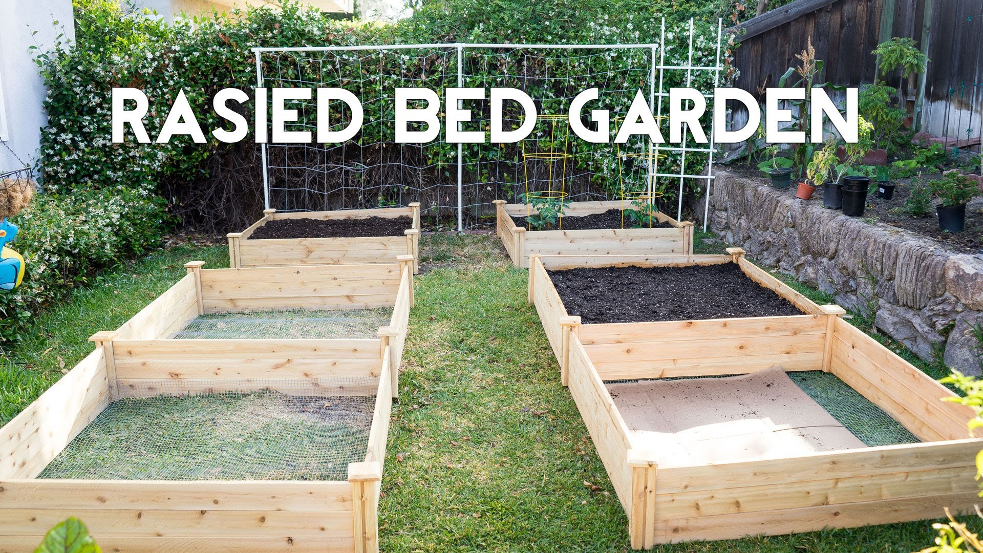 raised bed garden raised garden beds - how to start gardening with raised beds - youtube RYVQKKM