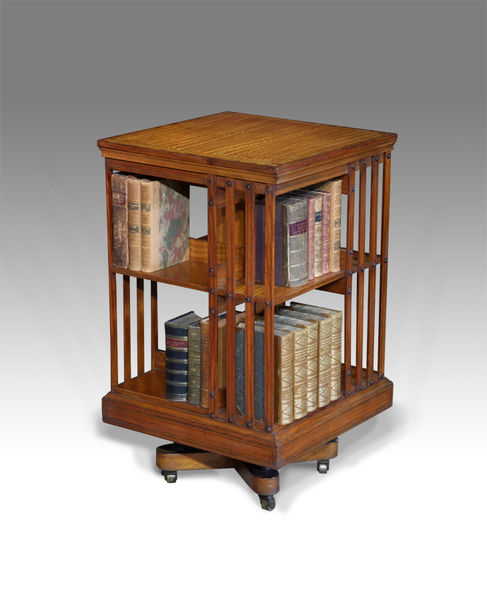 rare satinwood revolving bookcase FIAGHOL