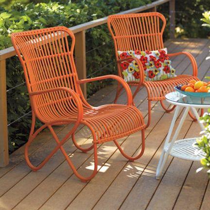 rattan outdoor furniture grandin road orange mid-century rattan outdoor chair furniture modern432 x  432227.9kbroomfu.com EKUGVTR