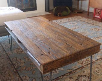 Reclaimed Wood Coffee Table | Etsy POZGXBM