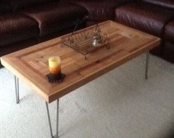 reclaimed wood coffee table handmade reclaimed wood coffee tables with hairpin legs TMKZMCN