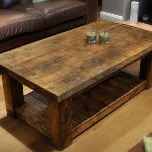 reclaimed wood coffee table reclaimed chunky rustic pine solid wood coffee table DHXEFAV & Reclaimed Wood Coffee Table- lets have a vintage Era ...