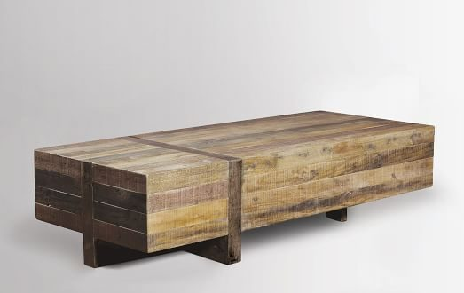 reclaimed wood coffee table ... reclaimed wood block coffee table $999 ... MIEQDUD