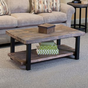 reclaimed wood coffee table somers 42 PYYKJDN