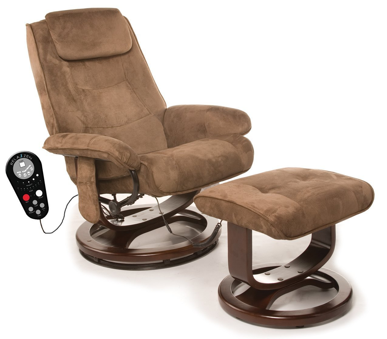 reclining chairs amazon.com: relaxzen 60-078011 deluxe leisure recliner chair with 8-motor  massage u0026 heat, OTGCOER
