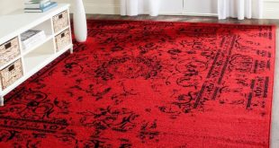 red rugs adirondack red/black 9 ft. x 12 ft. area rug YJRRBDB