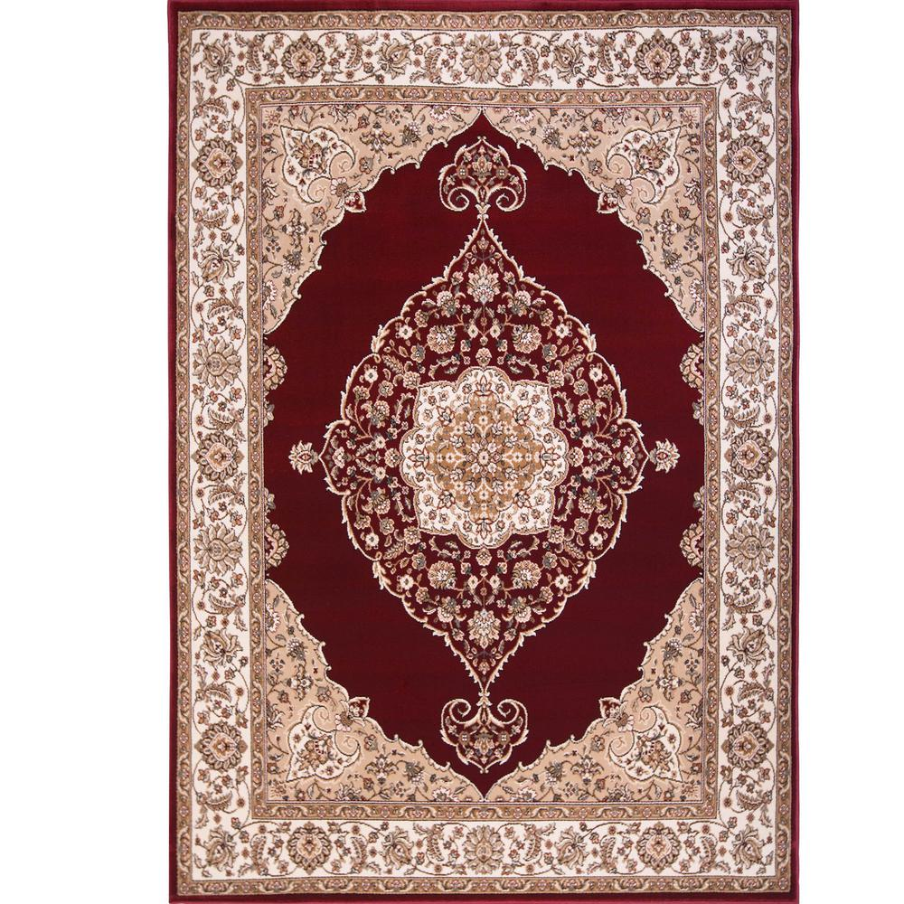 red rugs home dynamix bazaar emy red/ivory 7 ft. 10 in. x 10 ft XKBNPLP