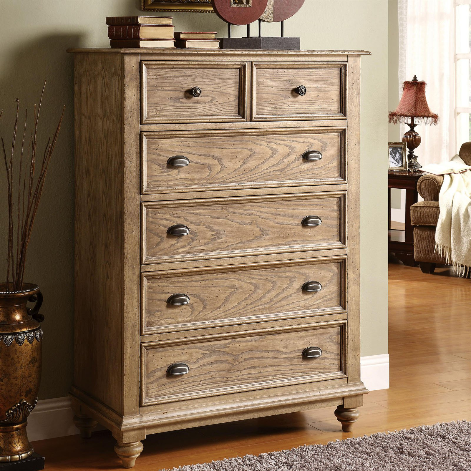 riverside coventry 5 drawer dresser - weathered driftwood | hayneedle EHDZBTE