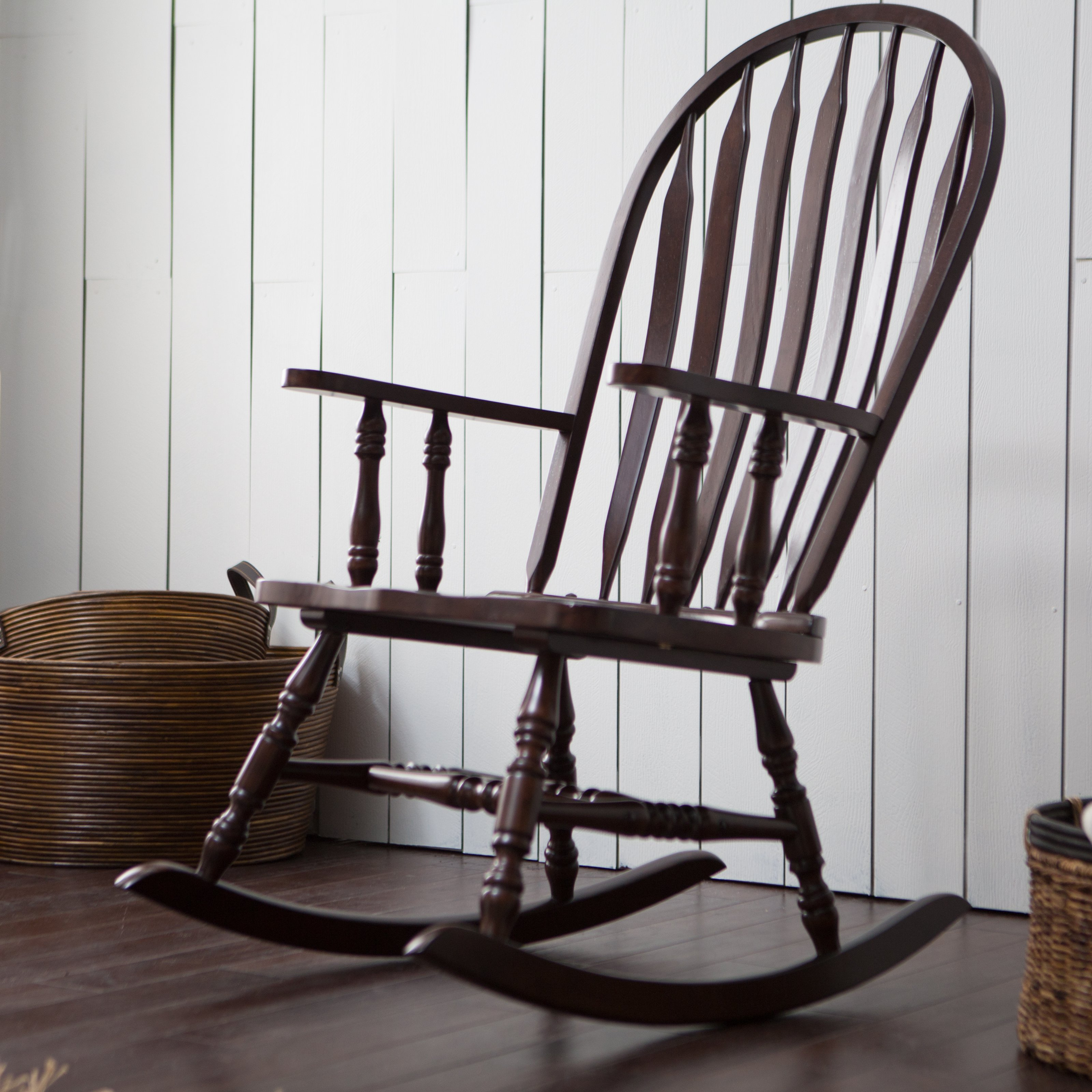 rocking chairs belham living windsor indoor wood rocking chair - espresso | hayneedle DPUCQAF