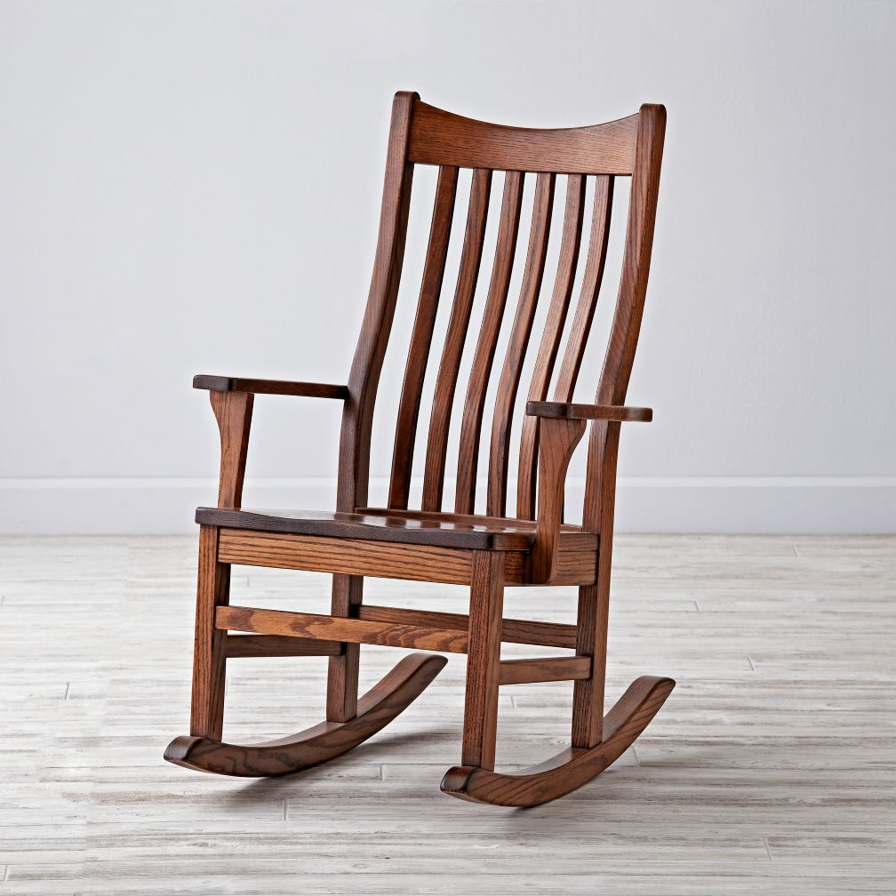 rocking chairs classic wooden rocking chair for nursery | the land of nod YTZLKUV