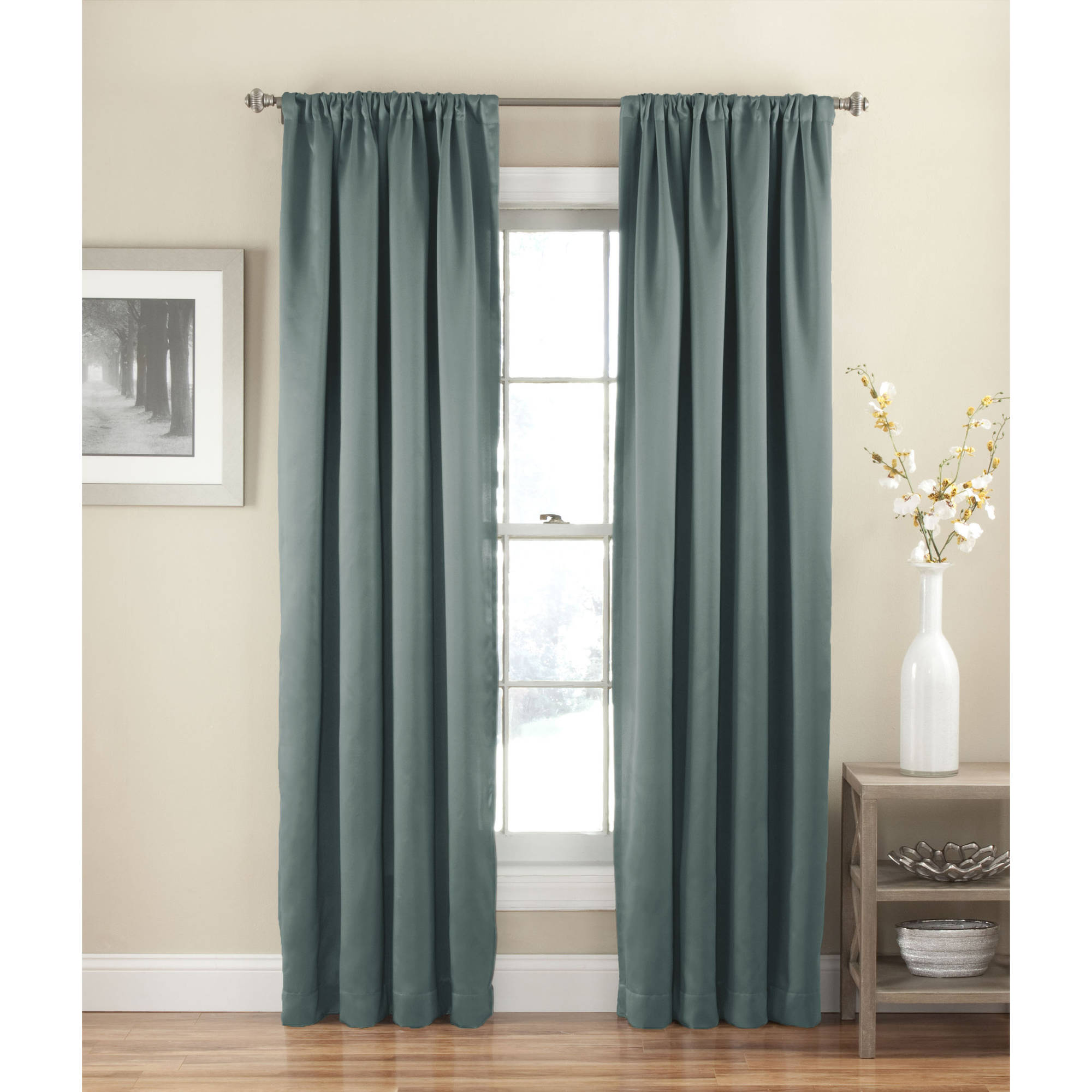 room darkening curtains eclipse solid thermapanel room-darkening curtain - walmart.com NYIDZKA