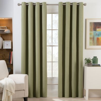 room darkening curtains herald square 63-inch grommet top room darkening window curtain panel in  green WTCZEJO