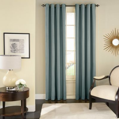 room darkening curtains solar shield wilder 63-inch grommet room darkening window curtain panel in  blue DOKIHKN