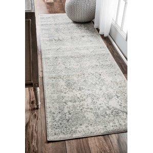 runner rug dorothea ivory/gray area rug RSXTYBV