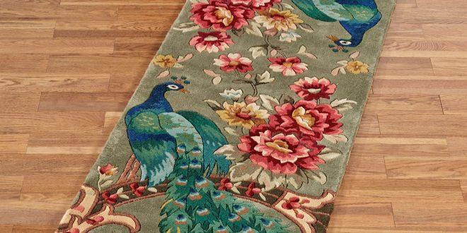 runner rug peacock flora wool rug runner CYEABOG