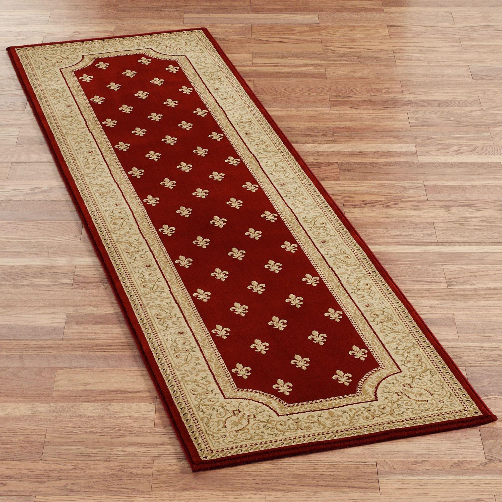 runner rugs regent fleur de lis rug runners EZSIZUF