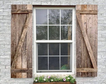 rustic wood shutters, decorative wood shutters, farmhouse window shutters,  barn wood shutters LHPDPTI