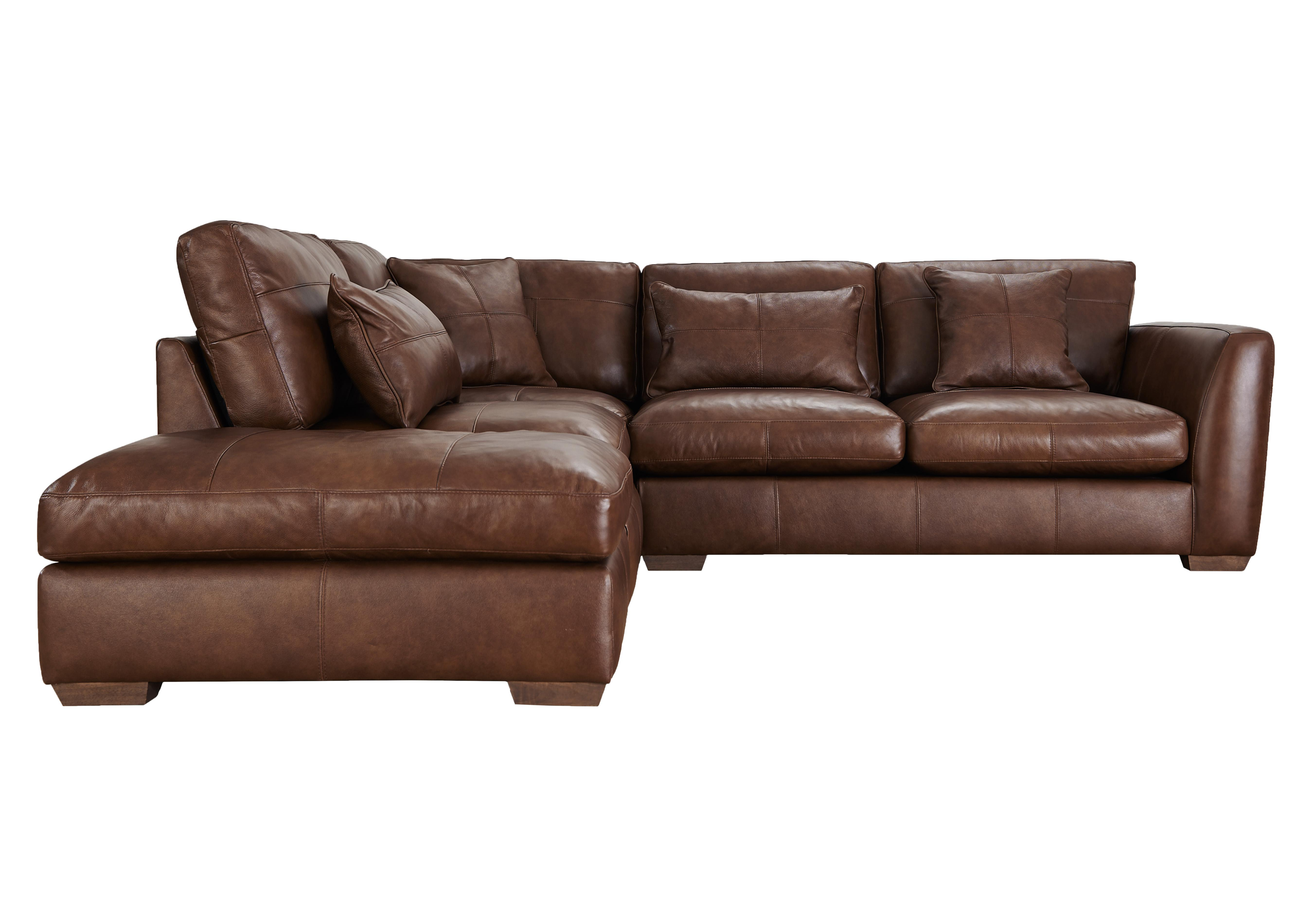 savannah leather corner sofa - furniture village NSBSTXF