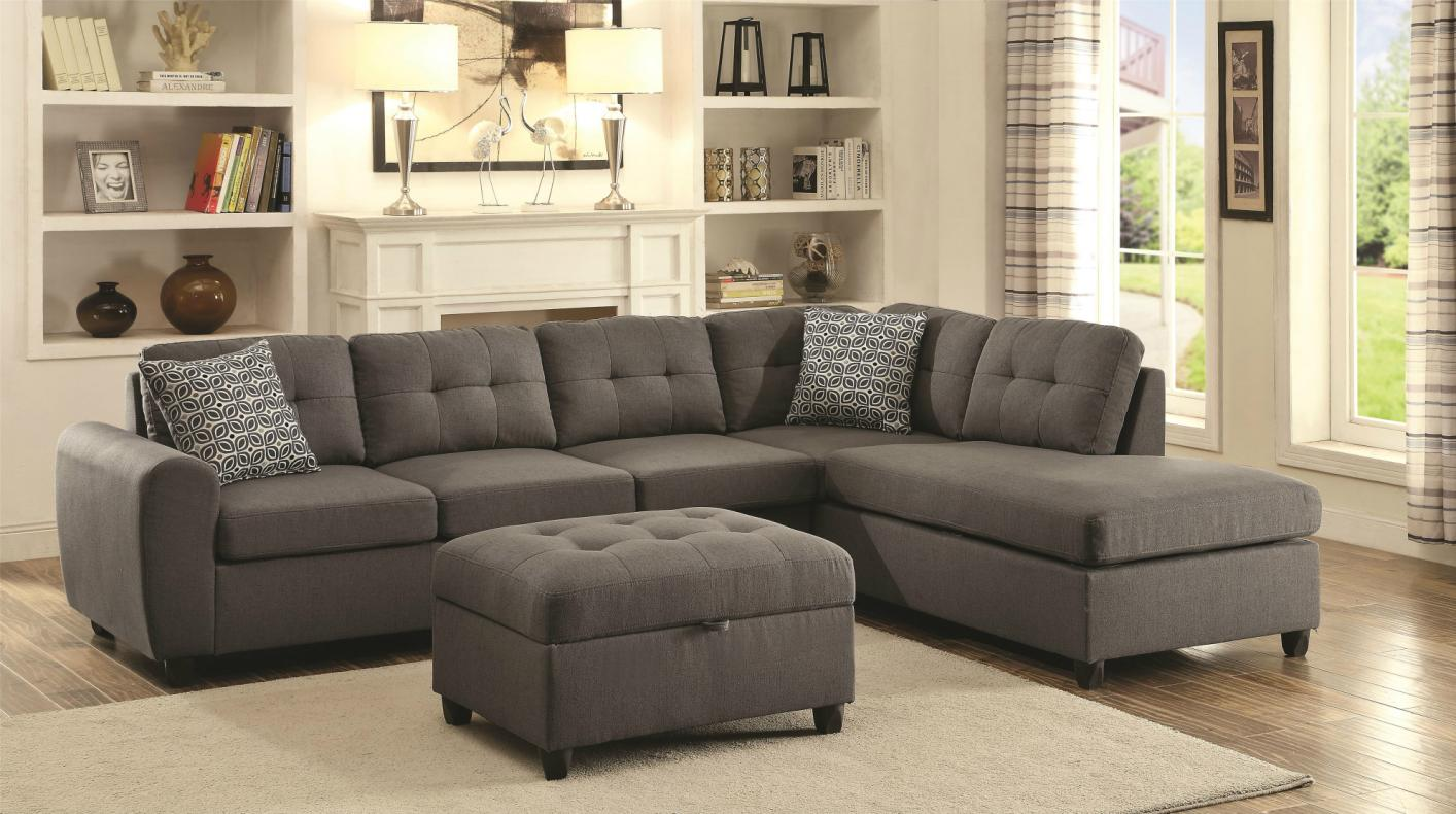 sectional couch stonenesse grey fabric sectional sofa XQVLTXC