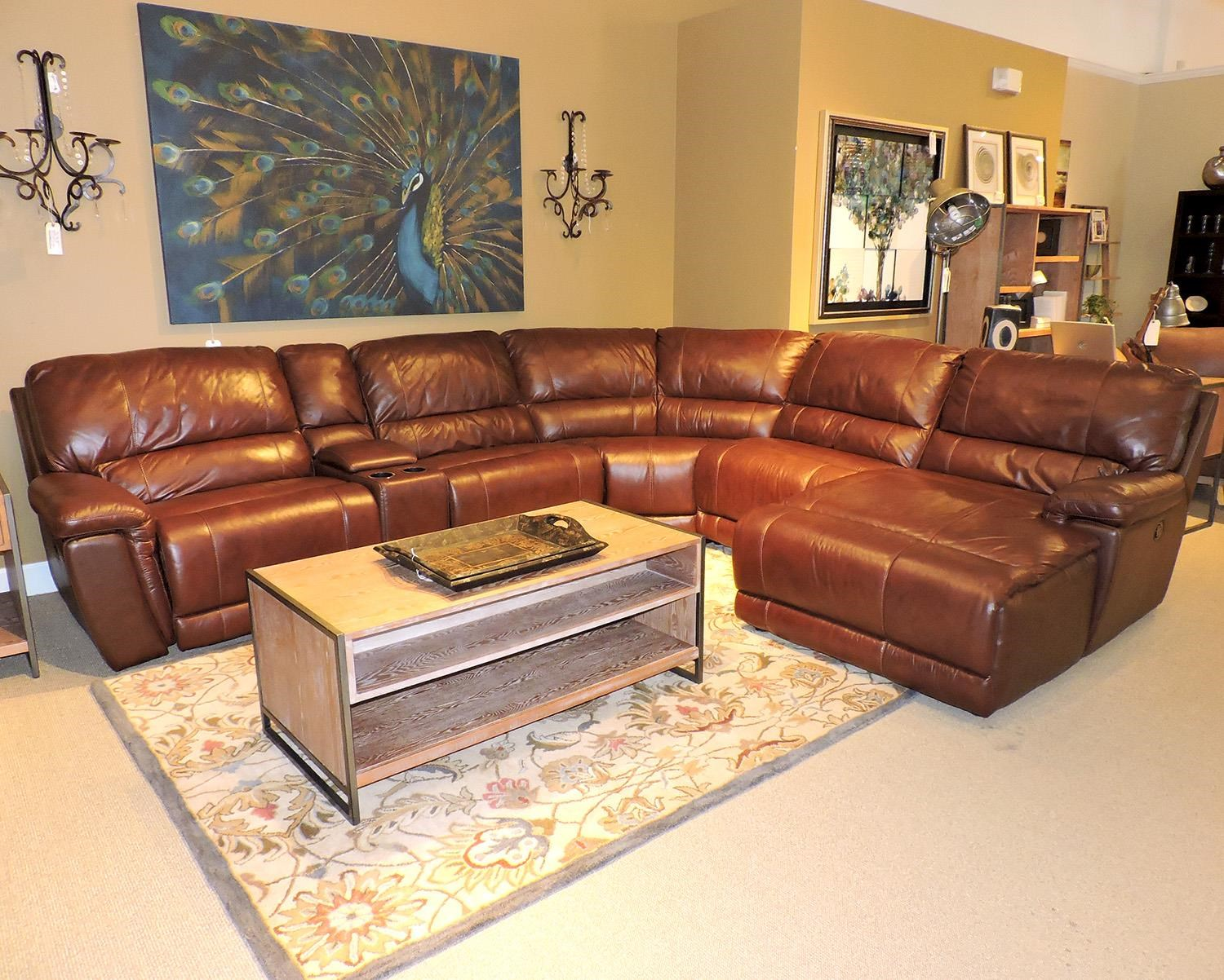 sectional furniture belfort select skyler 2678 reclining sectional sofa - item number:  2678-el1v+ourab BMYSSPO