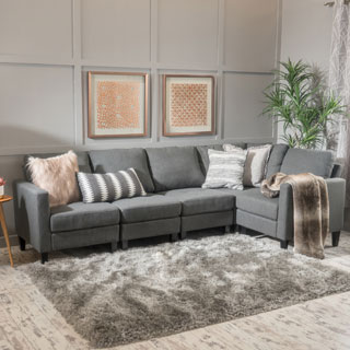 sectional furniture zahra 5-piece fabric sofa sectional by christopher knight home TICPTMK