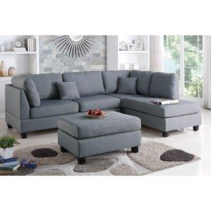sectional sofas hemphill reversible sectional ZXDWKAG