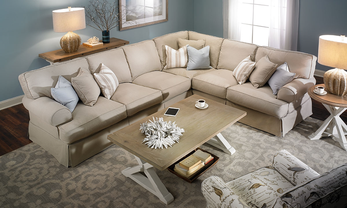 Sectional Sofas Picture Of Two Lanes: Natural Classic Slipcovered Sectional  Sofa CNVCLZO