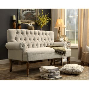 settees buxton tufted upholstered sofa/settee RKAWUFS