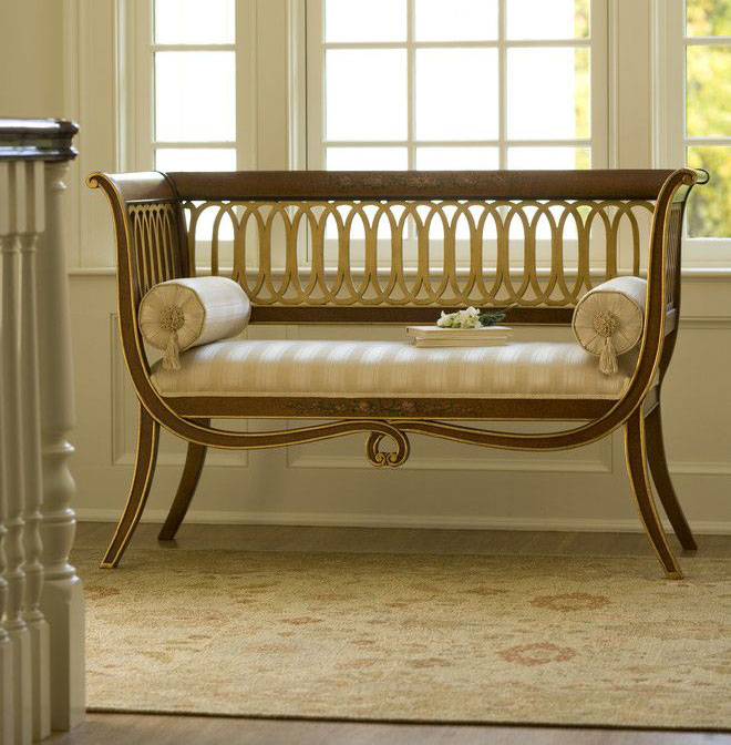 settees hand painted english style carved wood settee | luxury furniture | italian DQRSATF