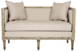 settees leandra linen french country settee item: fox6237b color: taupe MZPOOSV