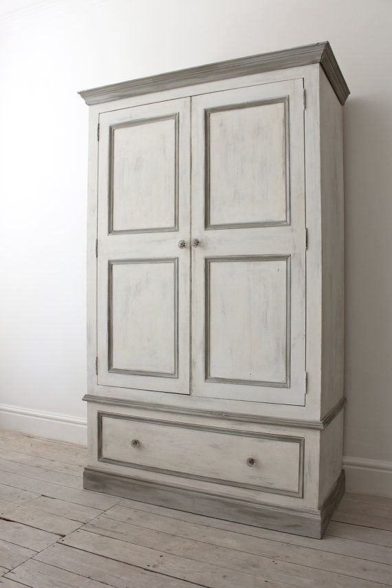 shabby chic wardrobe double pine wardrobe painted in a shabby chic style with annie sloane old CEMDVDJ