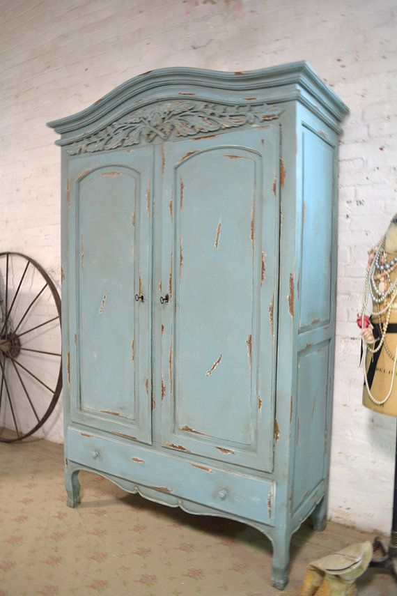 shabby chic wardrobe french armoire painted cottage chic shabby by paintedcottages WSYHPZJ