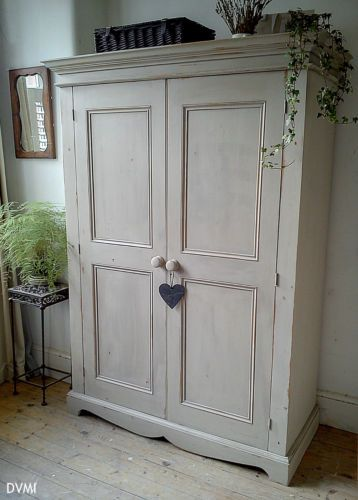shabby chic wardrobe pretty painted vintage shabby chic knockdown pine wardrobe OREPWQZ