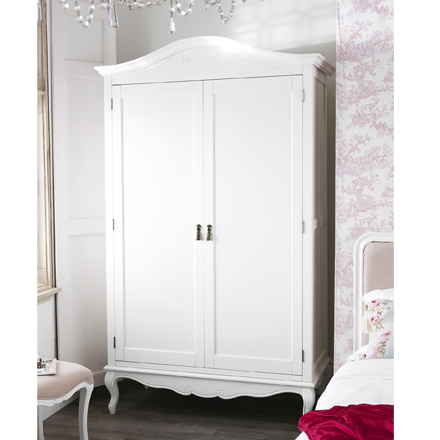 shabby chic wardrobe rochelle shabby chic white painted double wardrobe NZVGBAZ
