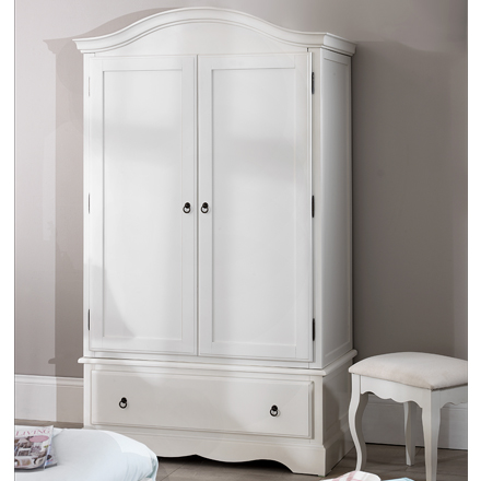shabby chic wardrobe romance shabby chic white double wardrobe / 1 drawer 2 door NYDAFSM