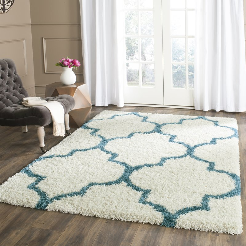 shag area rugs kids off-white and teal shag area rug CHNDIDU