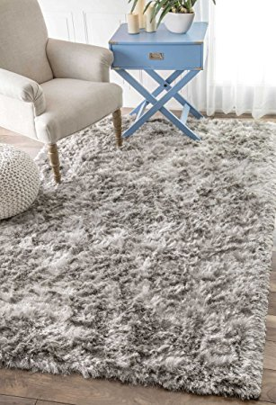 shag area rugs nuloom handmade soft and plush silken solid shag area rug, ... EPUTCIN