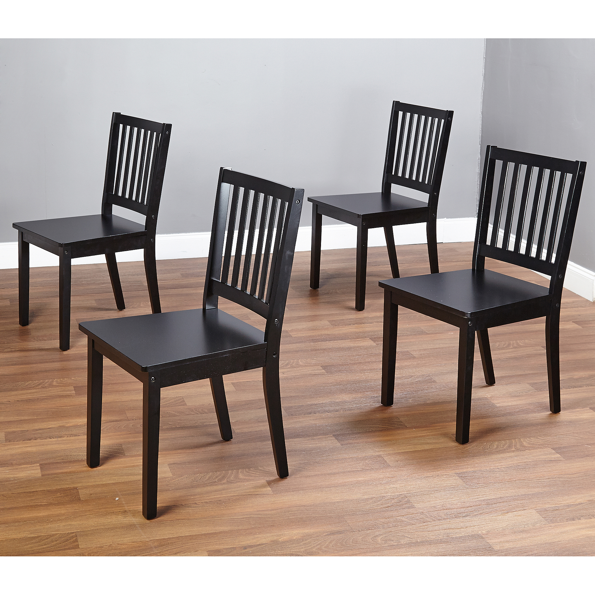 shaker dining chairs, set of 4, espresso - walmart.com JFSPPUZ