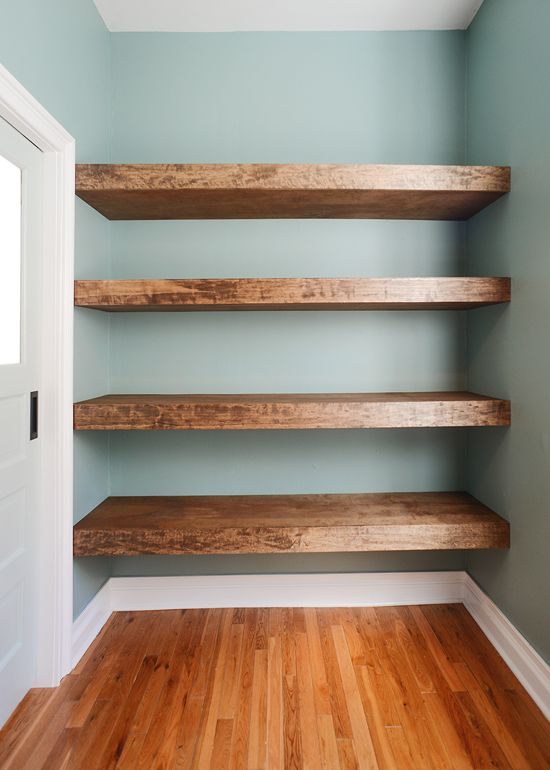 shelving ideas diy floating wood shelves! (yellow brick home) UTJEQNO