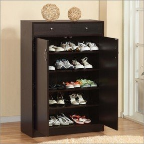 shoe racks brick modern 5-shelf shoe cabinet with two drawers modern-shoe-storage RHFQNLS