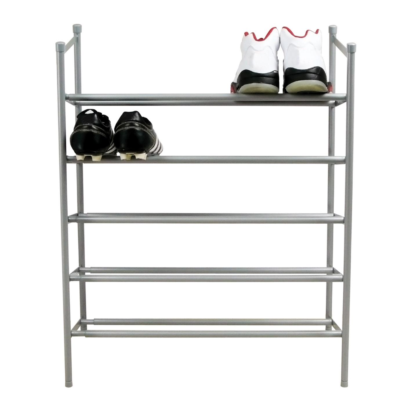 shoe racks silver 5 tier extending shoe rack NVMYOFI