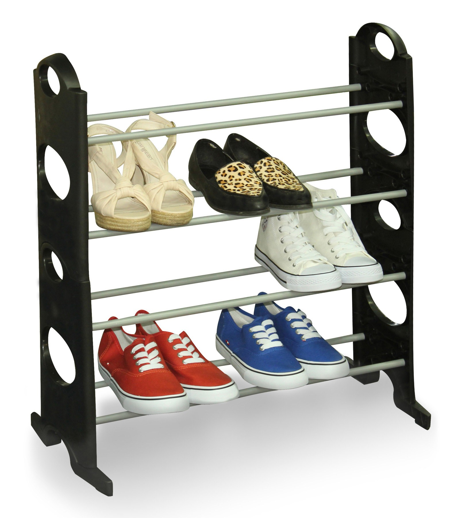 shoe racks sunbeam 12 pair shoe rack stack able MEBFNTB