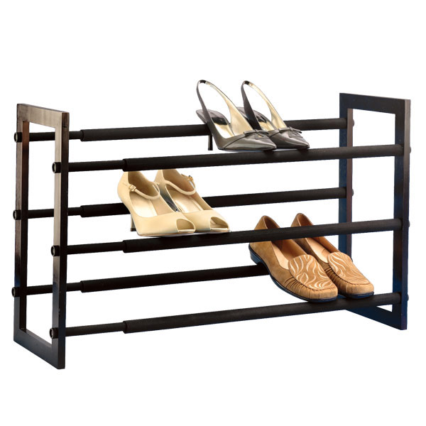 shoe racks walnut 3-tier grippy shoe rack ZDRBYPI