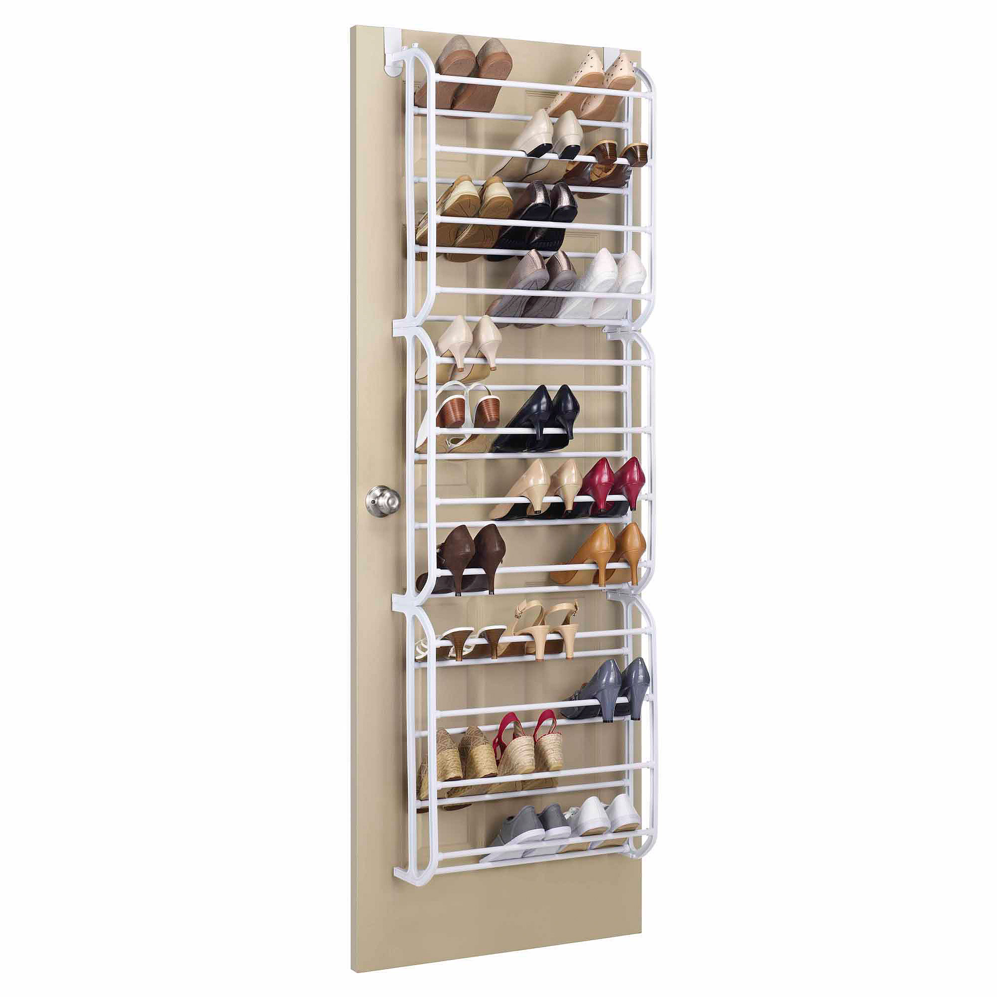 shoe racks whitmor 36-pair over-the-door shoe rack - walmart.com PQHKVTQ