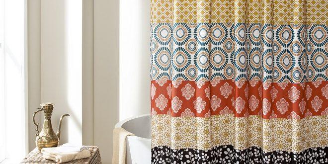 shower curtains amazon.com: lush decor 16t000209 bohemian stripe shower curtain, 72 DHYCIMD