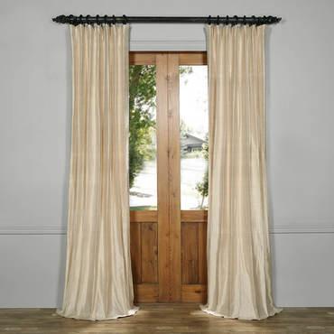 silk curtains biscuit beige textured dupioni silk curtain EVURLDE