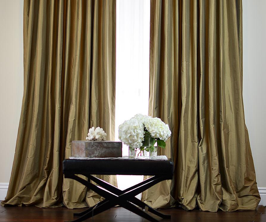silk curtains ... nutmeg dupioni custom silk drapery ... EDQQVTD