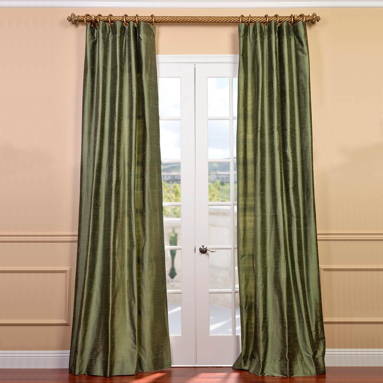 silk curtains restful green textured dupioni silk curtain BMAITZE